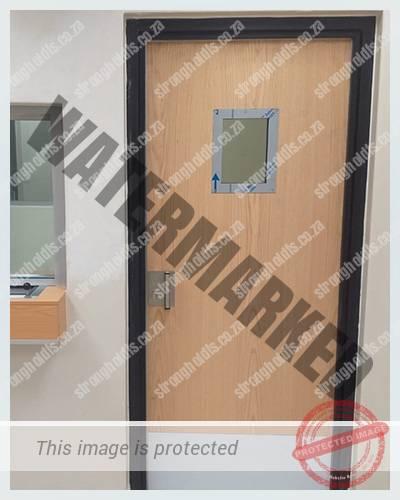 Oak Veneer Laminated Antibandit Door Installed 1 1